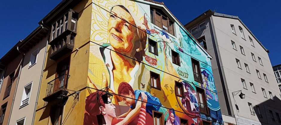 mural en Vitoria